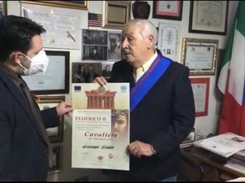 Giuseppe Nappa nominato Cavaliere della Solidarietà dall'Accademia Internazionale  Partenopea Federico II